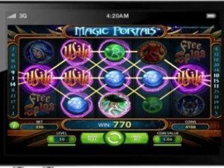 interface de jeu magic portals sur smartphone