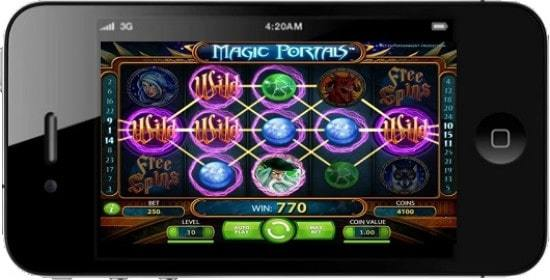 interface de jeu magic portals sur smartphone